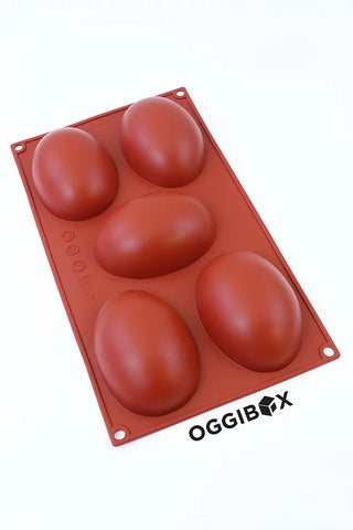 Image of Oggibox 5-Cavity Easter Egg Silicone Mold