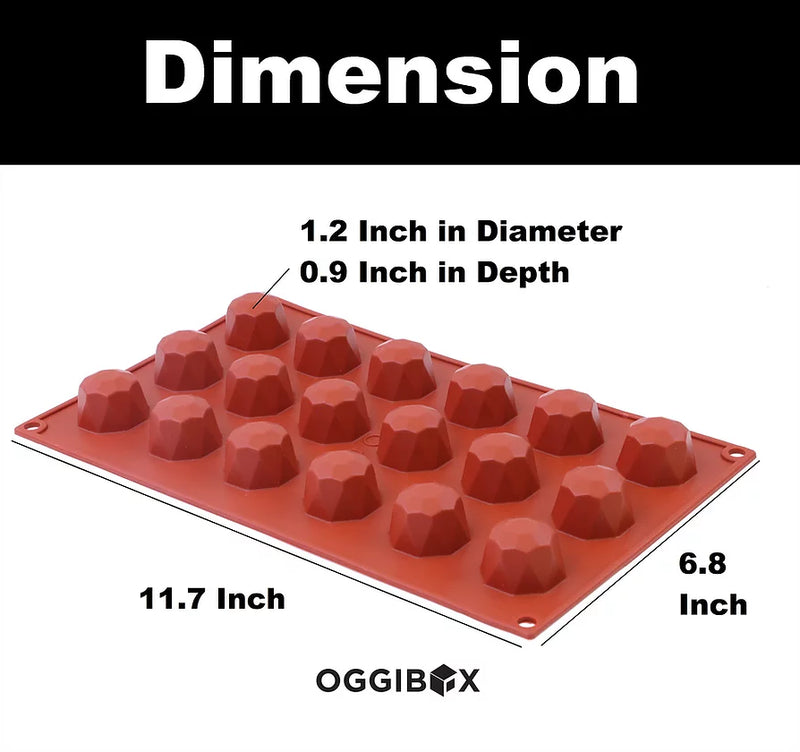 Oggibox 18-Cavity Mini Diamond Silicone Mold