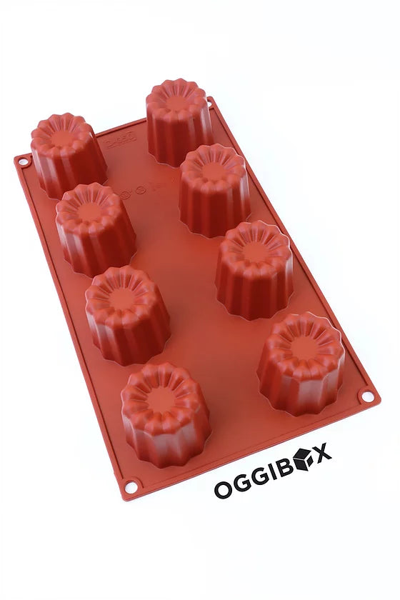 Oggibox 8-Cavity Canelé Silicone Mold
