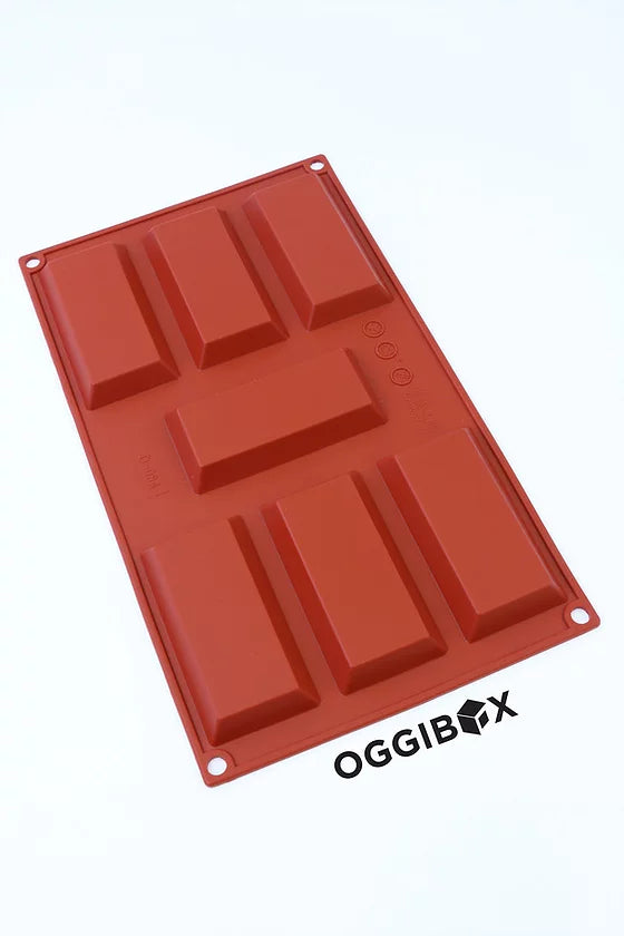 Oggibox 7-Cavity Rectangle Chocolate Bar Silicone Mold