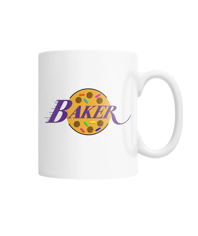 Baker Lakers White Coffee Mug