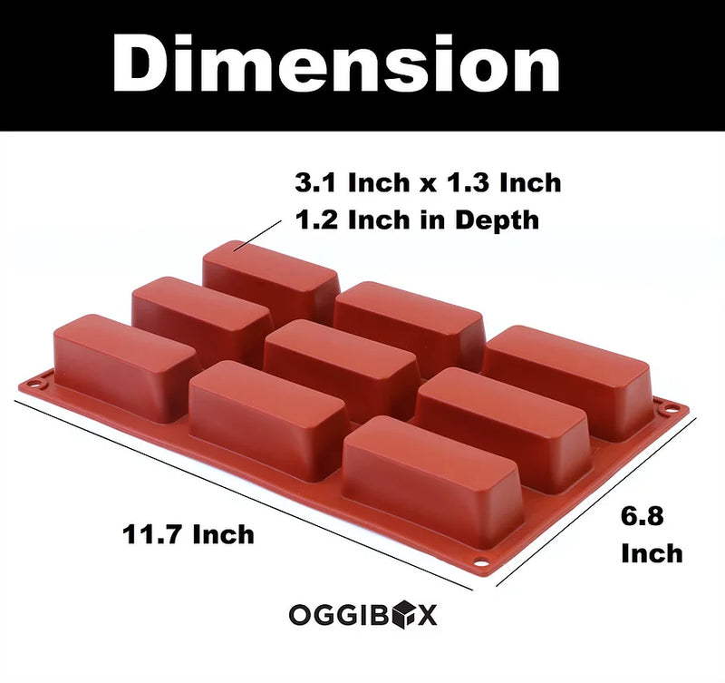 Oggibox 9-Cavity Rectangle Silicone Mold