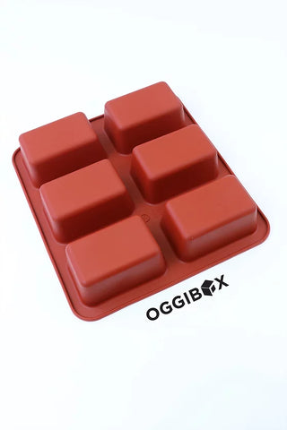 Oggibox 6-Cavity Loaf Pan Silicone Mold
