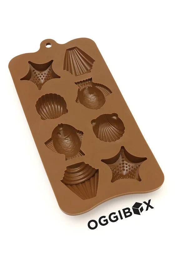 Oggibox 15 Cavity Seashell and Fish Chocolate Silicone Mold