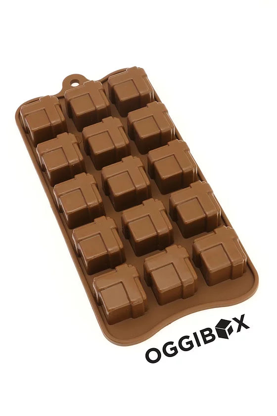 Oggibox 15 Cavity Gift Box Square Chocolate Silicone Mold