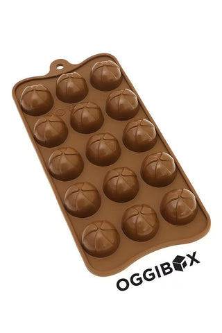 Image of Oggibox 15 Cavity Pinwheel Half Sphere Chocolate Silicone Mold