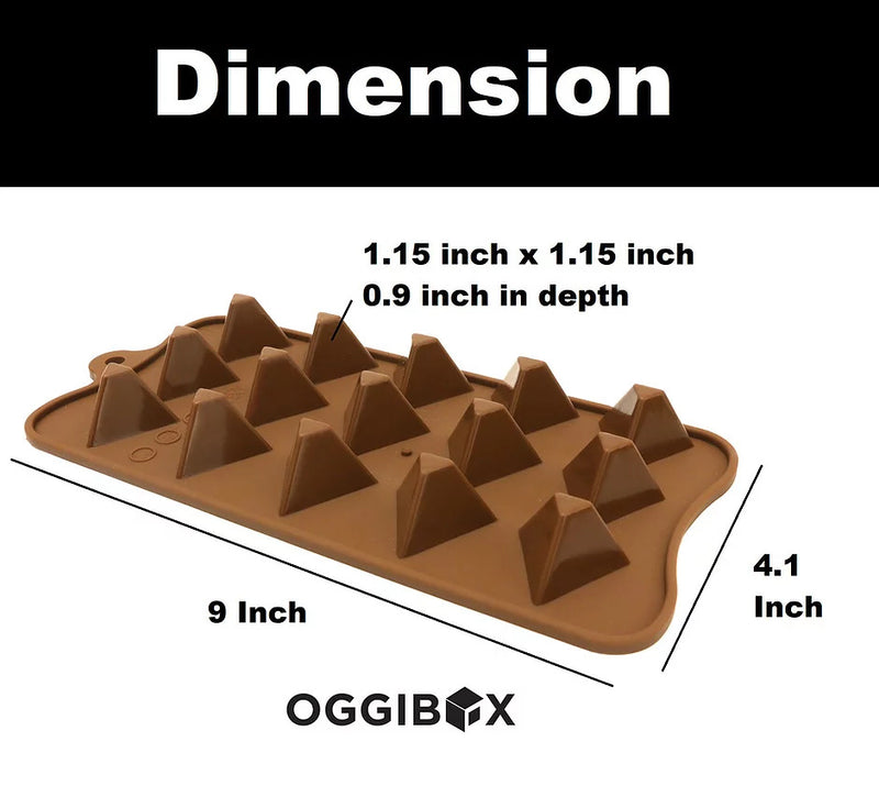 Oggibox 15 Cavity Triangle Pyramid Chocolate Silicone Mold