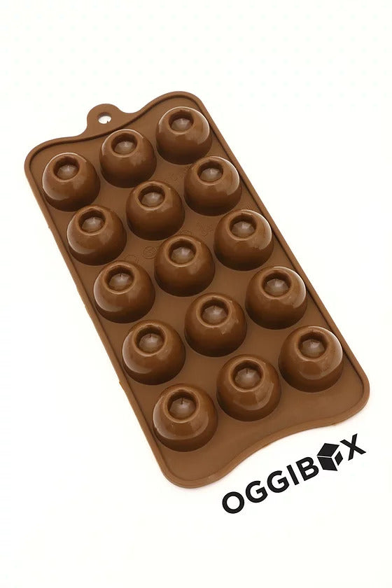 Oggibox 15 Cavity Dimple Round Chocolate Silicone Mold