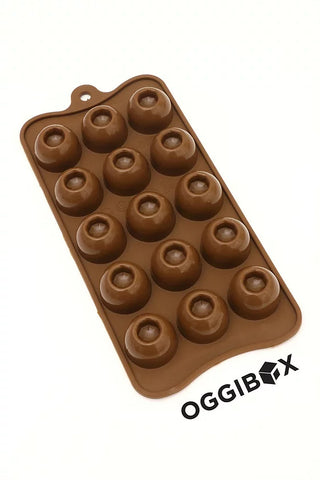 Image of Oggibox 15 Cavity Dimple Round Chocolate Silicone Mold