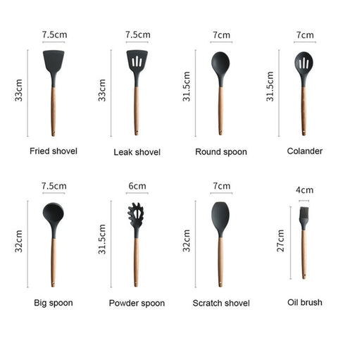 Image of Silicone Spatula Heat Resistant Kitchen Tools