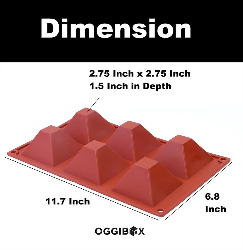 Oggibox 6-Cavity Pyramid Silicone Mold