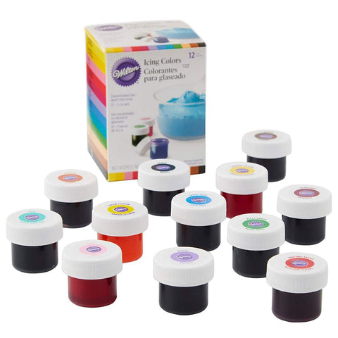 Wilton Icing Colors 12-Count Gel-Based Food Coloring