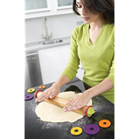 Adjustable Rolling Pin with Removable Rings