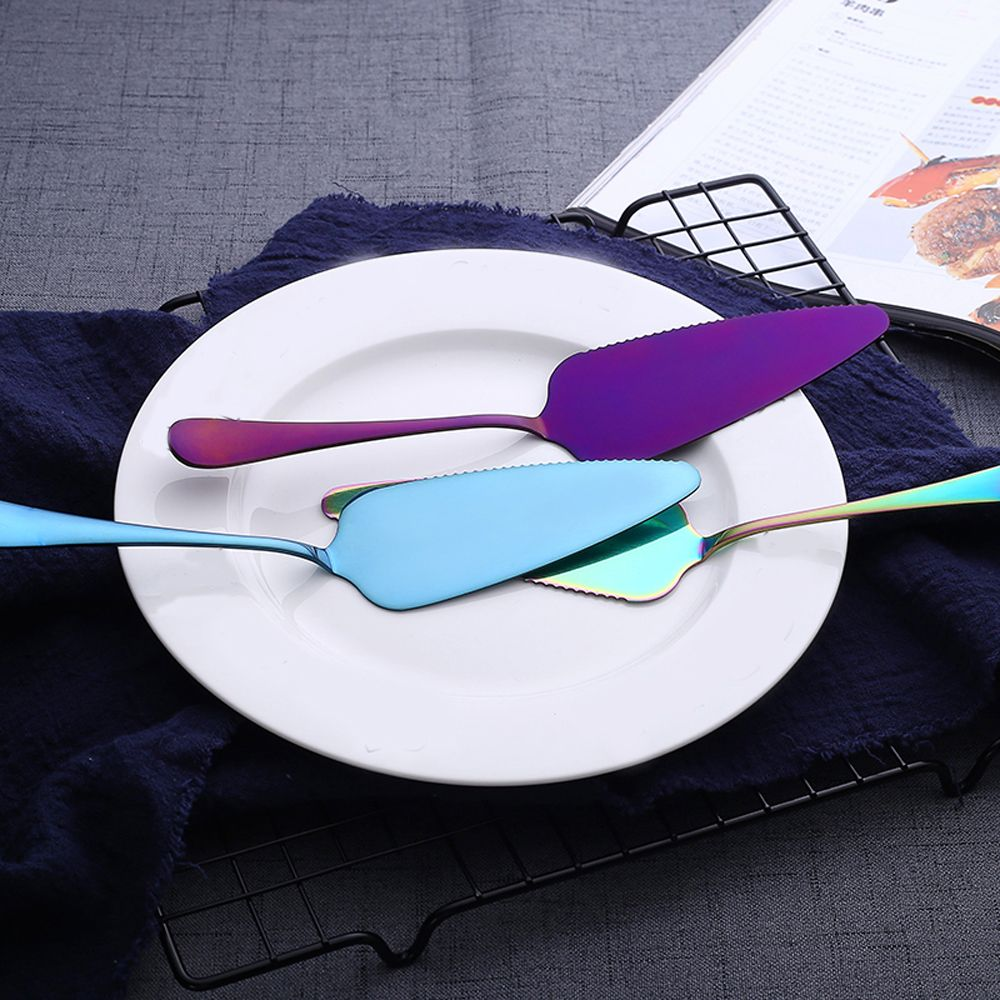Colorful Stainless Steel Serrated Edge Cake Server