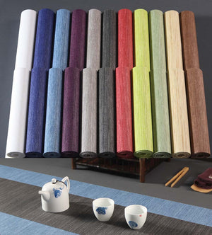 15.7 X 78.7 Inches Japanese Style Paper Fiber Tea Table Runner - Wine Red