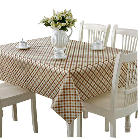 Image of Elegant Waterproof Tablecloths Anti-oil Table Linens, Stripe [138*180cm]