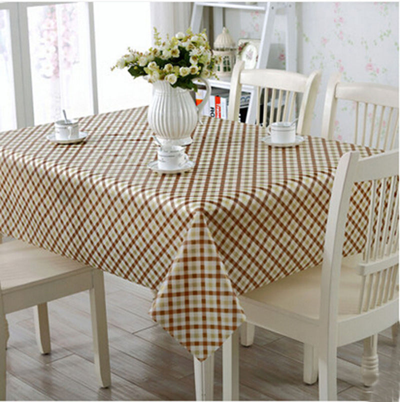 Elegant Waterproof Tablecloths Anti-oil Table Linens, Stripe [138*180cm]