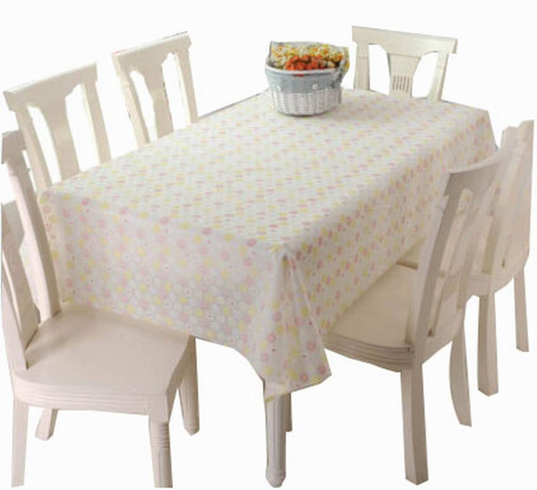 Elegant Waterproof Tablecloths Durable Table Linens-covers, Floral [137*180cm]