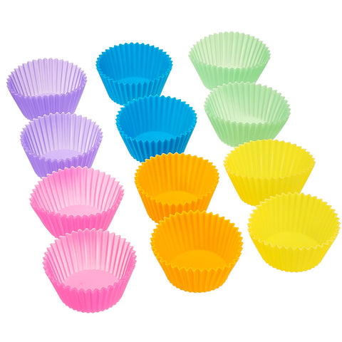 Image of Silicone Baking Cups, Pack of 12