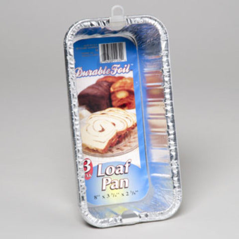 Aluminum Loaf Pan - 3 Pack Case Pack 12