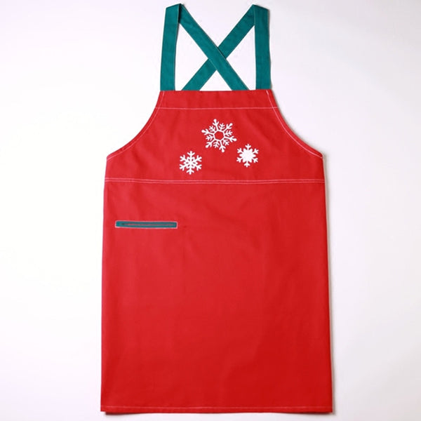 Long Red Christmas Apron