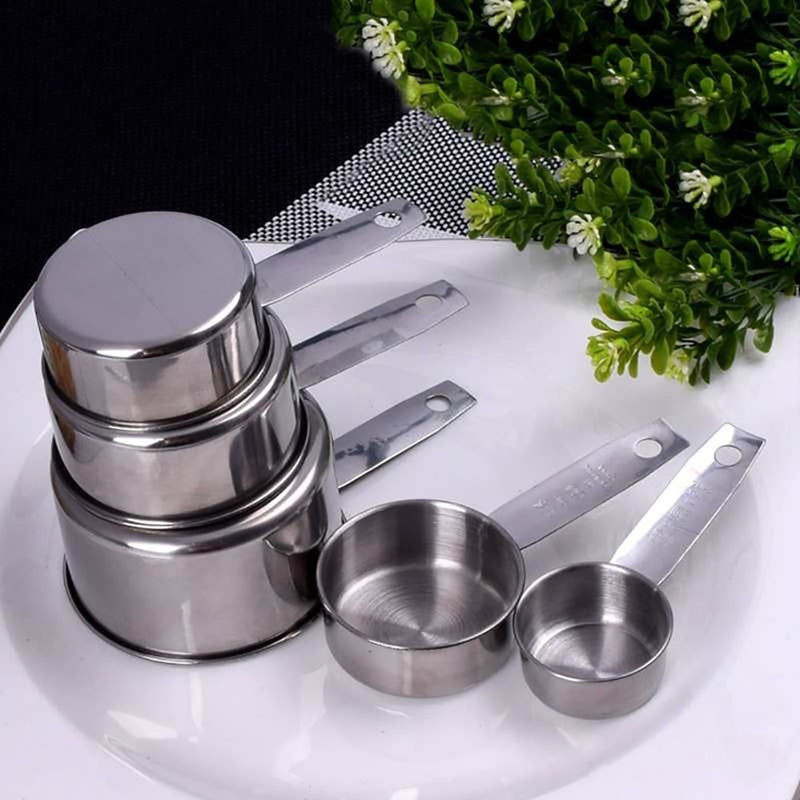 5 Pcs Stainless Steel Measuring Cups Set
