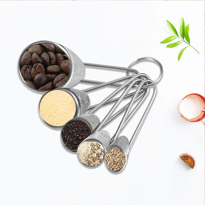 5Pcs Baking Stainless Steel Measuring Spoon