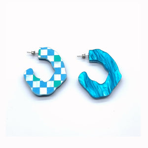 Summer Ready Reversible Hoops Teal