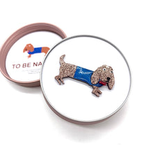Load image into Gallery viewer, Strudel and Schnitzel our Dachshund Pup Brooch