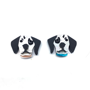 Dalmatian and paw large studs