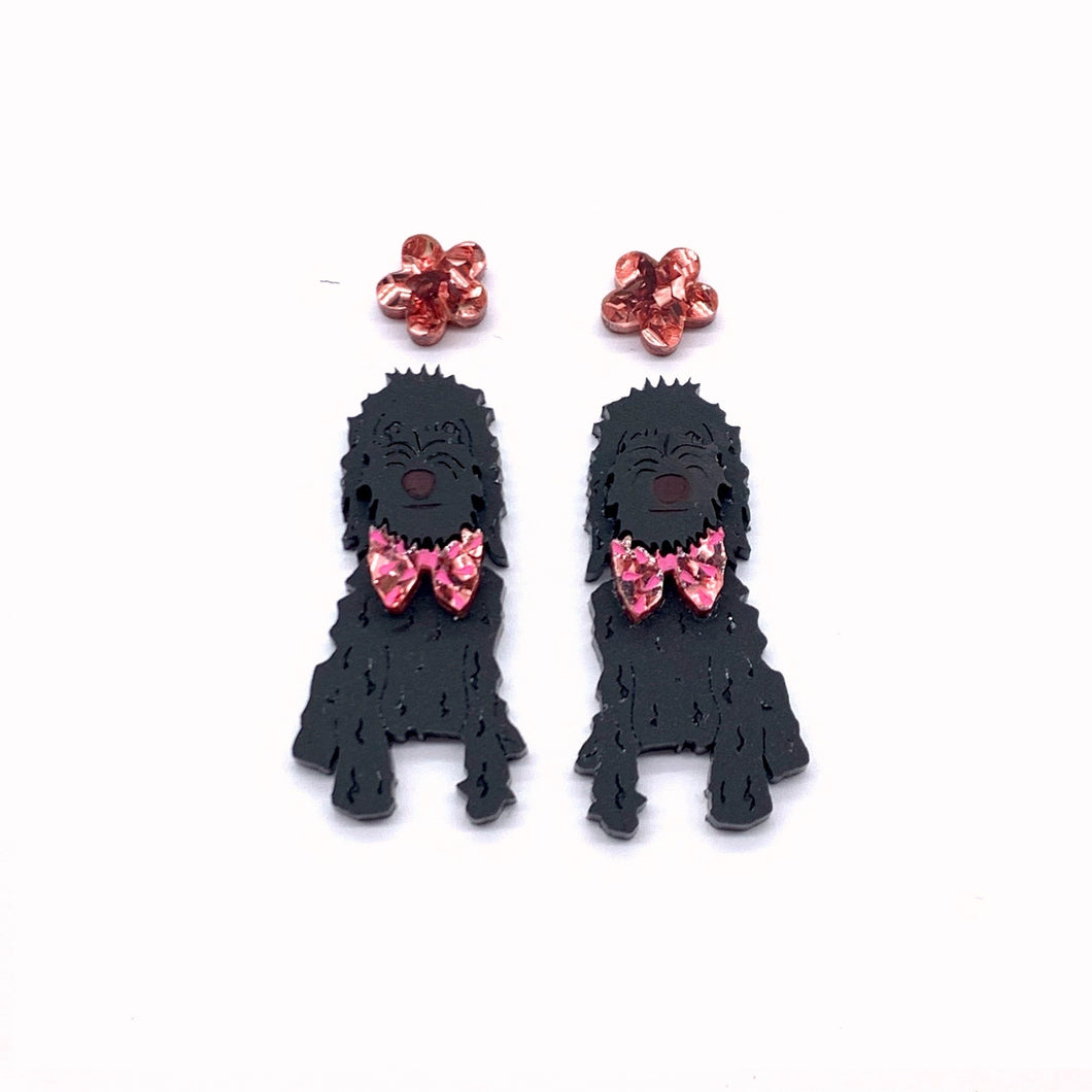 LIMITED EDITION Clifford and Chloe our Black Oodle Dangles