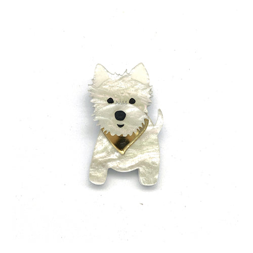 Carson our Westie pup badge