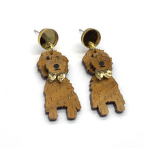 Load image into Gallery viewer, Poppy and Poalo our Tan Groodle Dangles