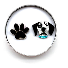 Load image into Gallery viewer, Dalmatian and paw large studs