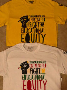 Educational Equity T-Shirt Gold