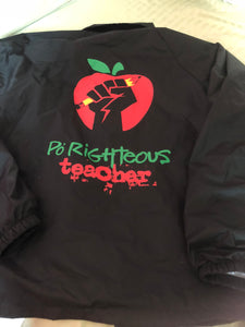 Po Righteous Teacher Logo Coach's Jacket