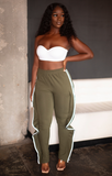 Side Striped Sweat Pants with Flare