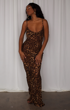 Leopard Print Maxi Dress- (FINAL Restock) PREORDER SHIPS BY 02/01/21