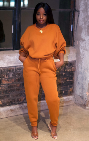 So Chic Sweatpants Set (Copper)