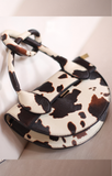 Cow Print Handbag- Crossbody