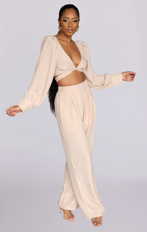 SOPHIE I CROP TOP PALAZZO PANTS SET
