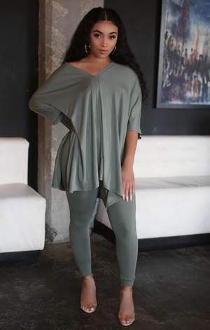 Go with the Flow Lounge Set (Olive)