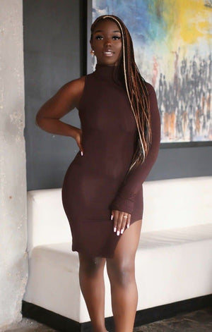 Chocolate Body Asymmetrical Dress
