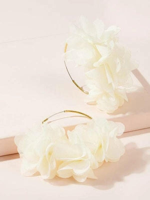 Flower Galore Hoop Earrings