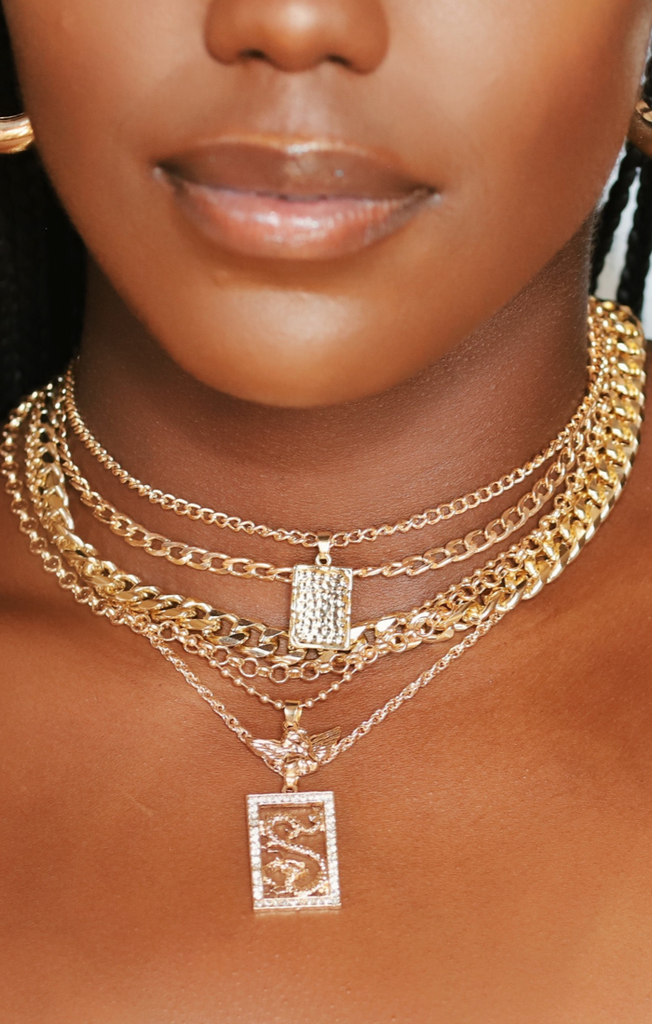 Drippin' Chains- 6 Layered Chain Set