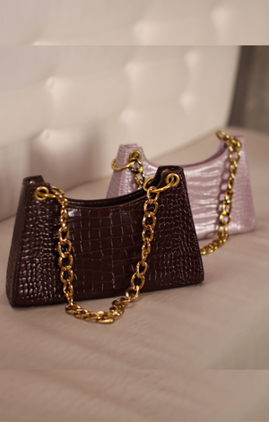 Crocodile Chain Purse