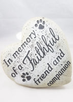 IN MEMORY OF A FAITHFUL FRIEND STONE