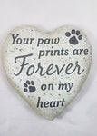 PAW PRINTS ON YOUR HEART STONE