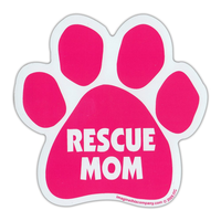 RESCUE MOM PINK MAGNET