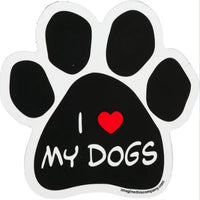 I LOVE MY DOGS BLACK MAGNET